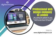 Professional web design company in London